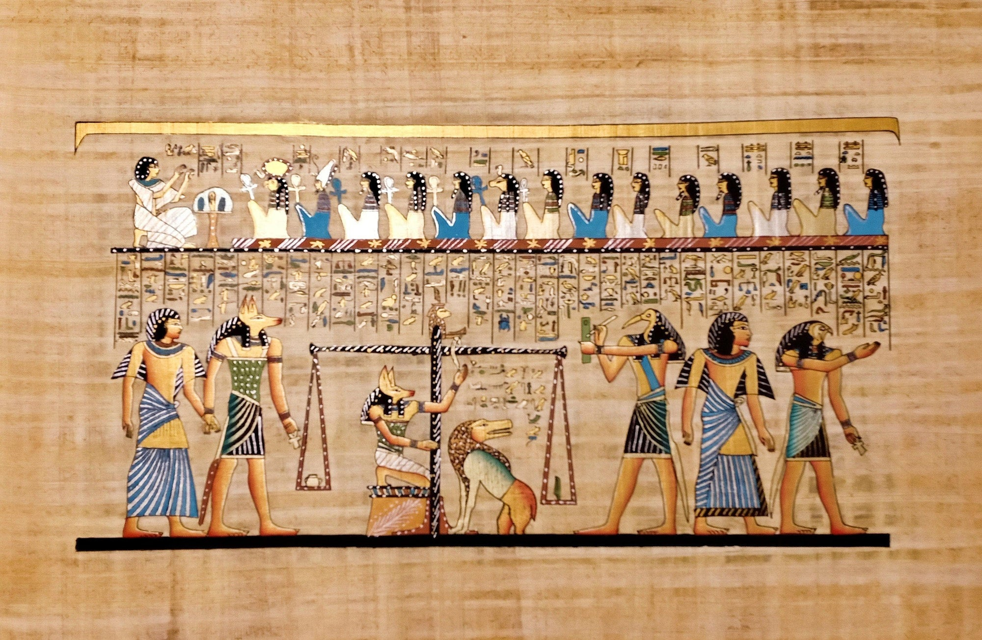 Ancient Egypt - Last Judgement of Hunefer Hand-Painted Papyrus Ancient Treasures Ancientreasures Viking Odin Thor Mjolnir Celtic Ancient Egypt Norse Norse Mythology
