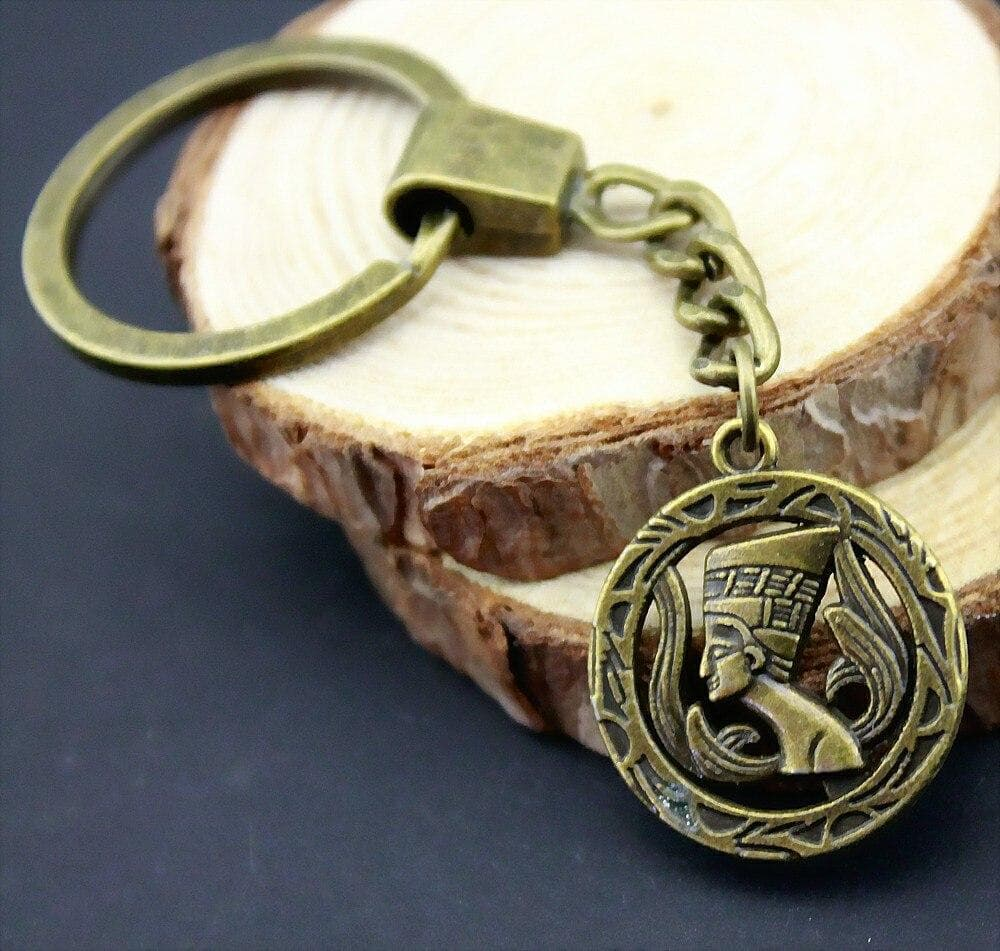 Ancient Egypt Nefertiti Antique Bronze Plated Keychain Ancient Treasures Ancientreasures Viking Odin Thor Mjolnir Celtic Ancient Egypt Norse Norse Mythology