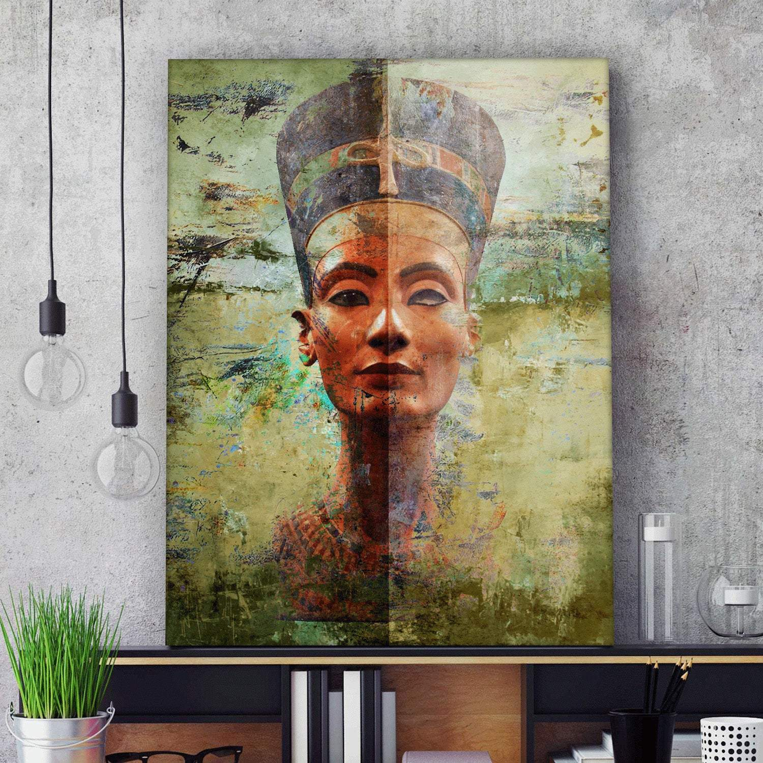 Ancient Egypt Queen Nefertiti Wall Art Canvas Ancient Treasures Ancientreasures Viking Odin Thor Mjolnir Celtic Ancient Egypt Norse Norse Mythology