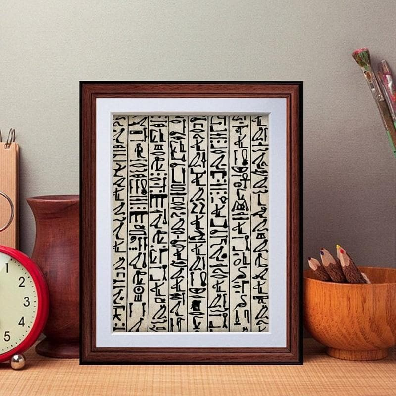 Ancient Egypt Small / No Frame Ancient Egypt Hieroglyphs Canvas Painting