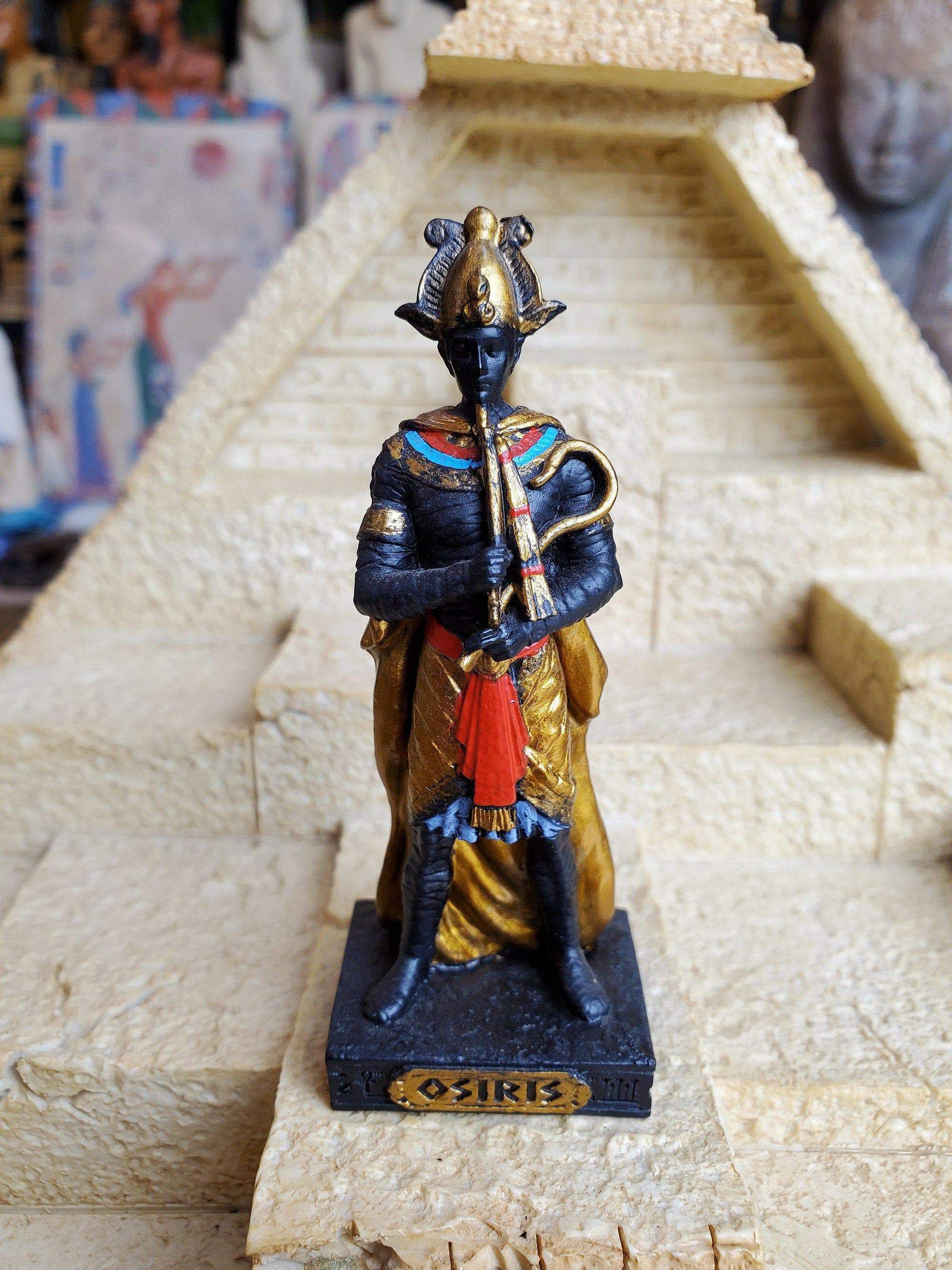 Ancient Egypt Vintage Hand-Painted Osiris Mini Altar Statue Ancient Treasures Ancientreasures Viking Odin Thor Mjolnir Celtic Ancient Egypt Norse Norse Mythology
