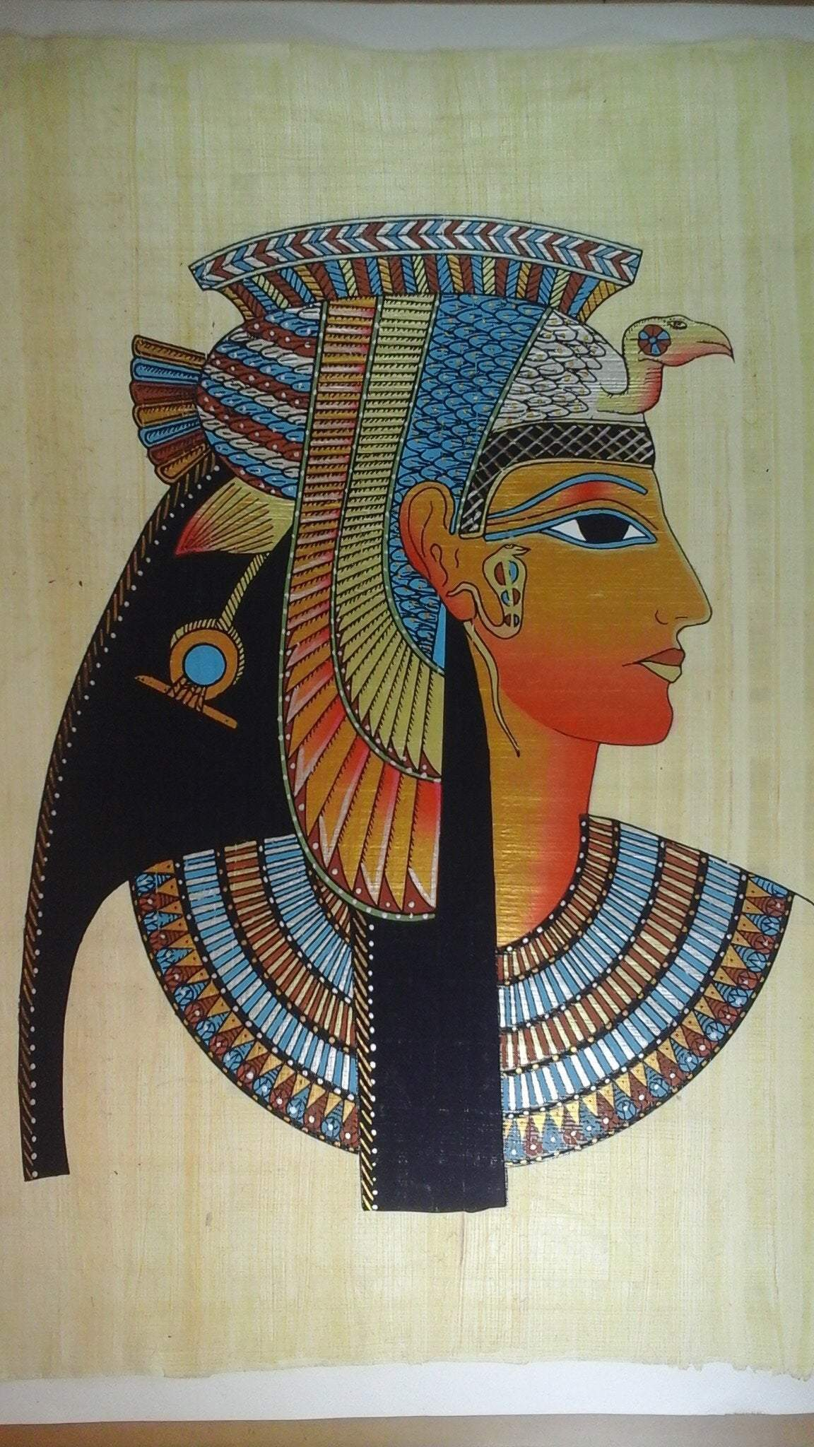 Ancient Egyptian Queen Cleopatra VII Philopator Hand-painted Papyrus Ancient Treasures Ancientreasures Viking Odin Thor Mjolnir Celtic Ancient Egypt Norse Norse Mythology