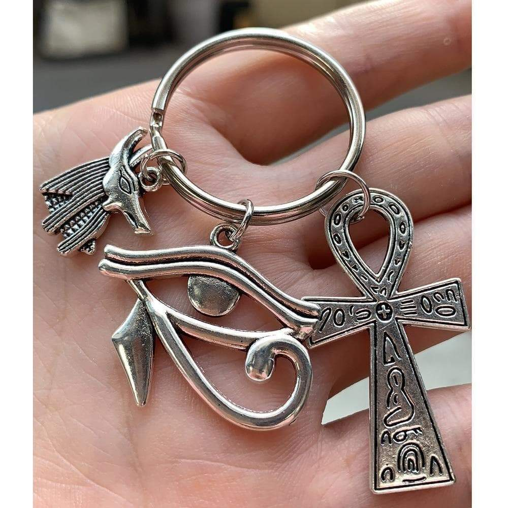 Ancient Egyptian Symbols - Ankh Anubis Eye Of Horus Keychain Ancient Treasures Ancientreasures Viking Odin Thor Mjolnir Celtic Ancient Egypt Norse Norse Mythology
