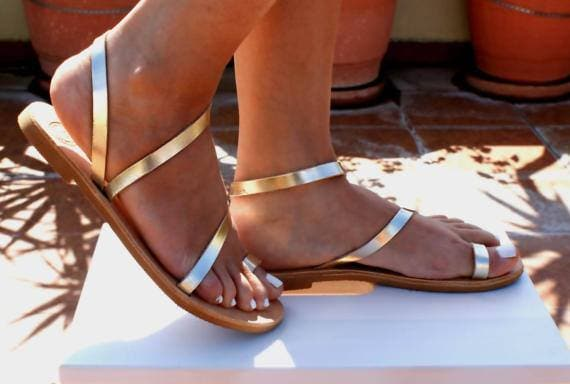 Greek Classic Leather Sandal