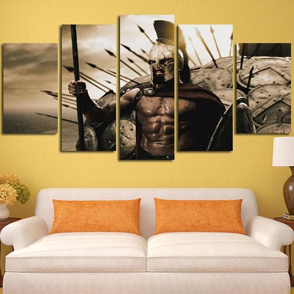 Ancient Greece Ancient Greece 5 Panel King of Sparta Wall Art Canvas