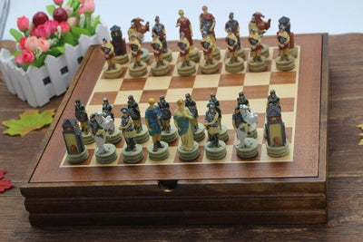 Ancient Roman Characters Chess Set