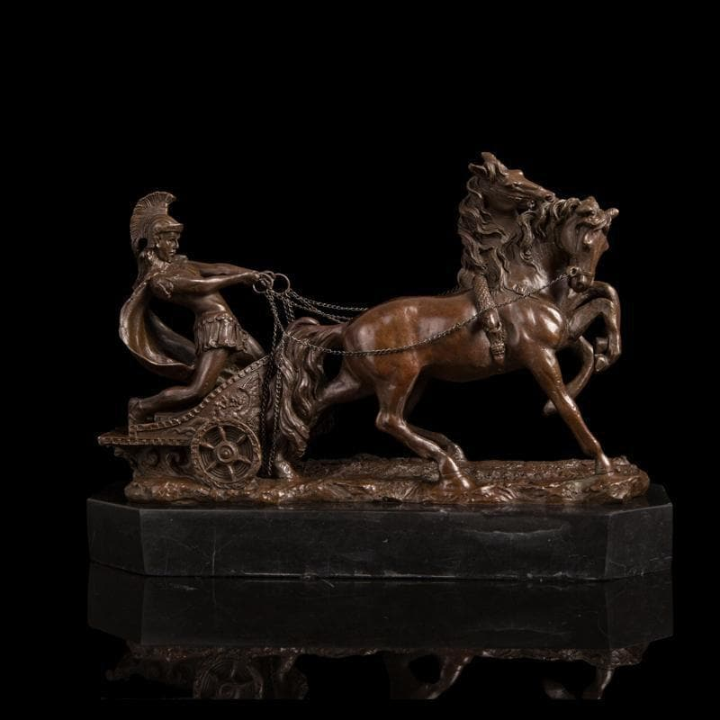 Ancient Greece Chariot Warrior Sculpture