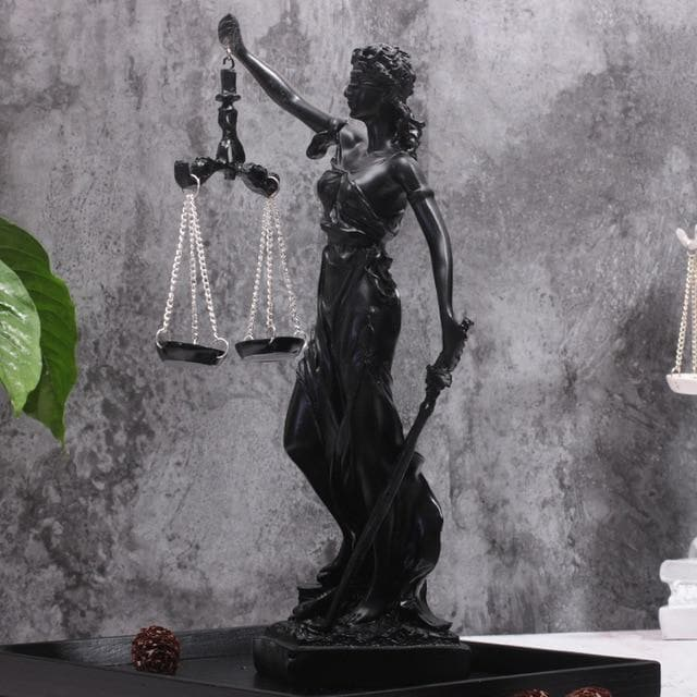 Ancient Greece Black Ancient Greece Goddess Of Justice Sculpture