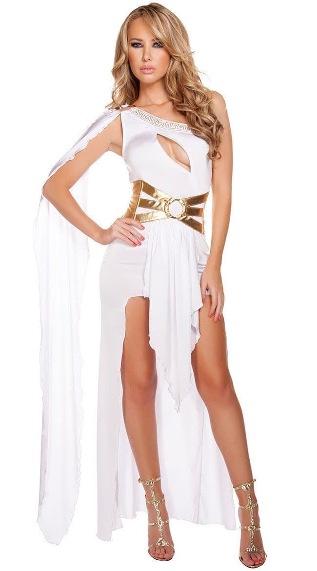 Ancient Greece Black Ancient Greece One Shoulder Open Party Dress