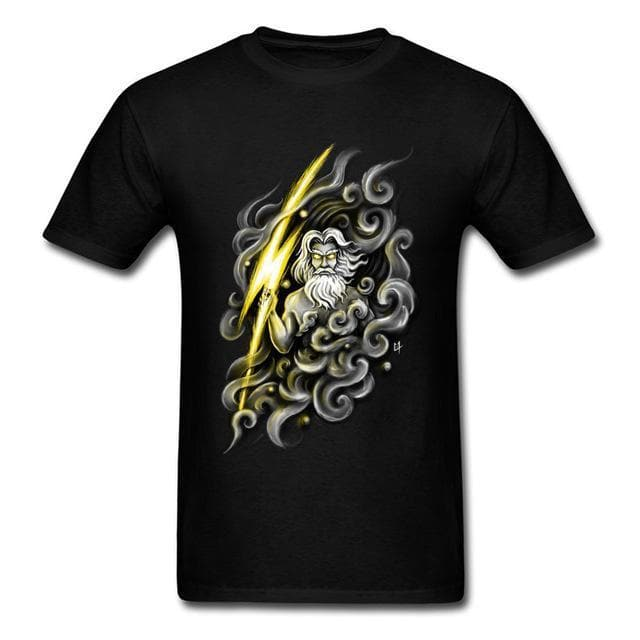 Ancient Greece Black / XS Ancient Greek Mythology Zeus T-Shirt