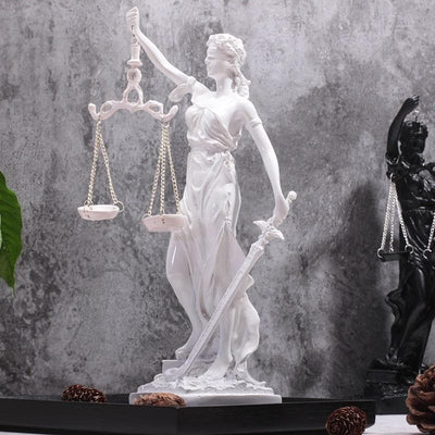 Ancient Greece White 2 Ancient Greece Goddess Of Justice Sculpture
