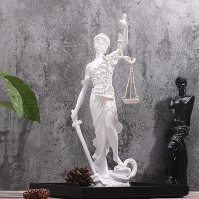Ancient Greece White Ancient Greece Goddess Of Justice Sculpture
