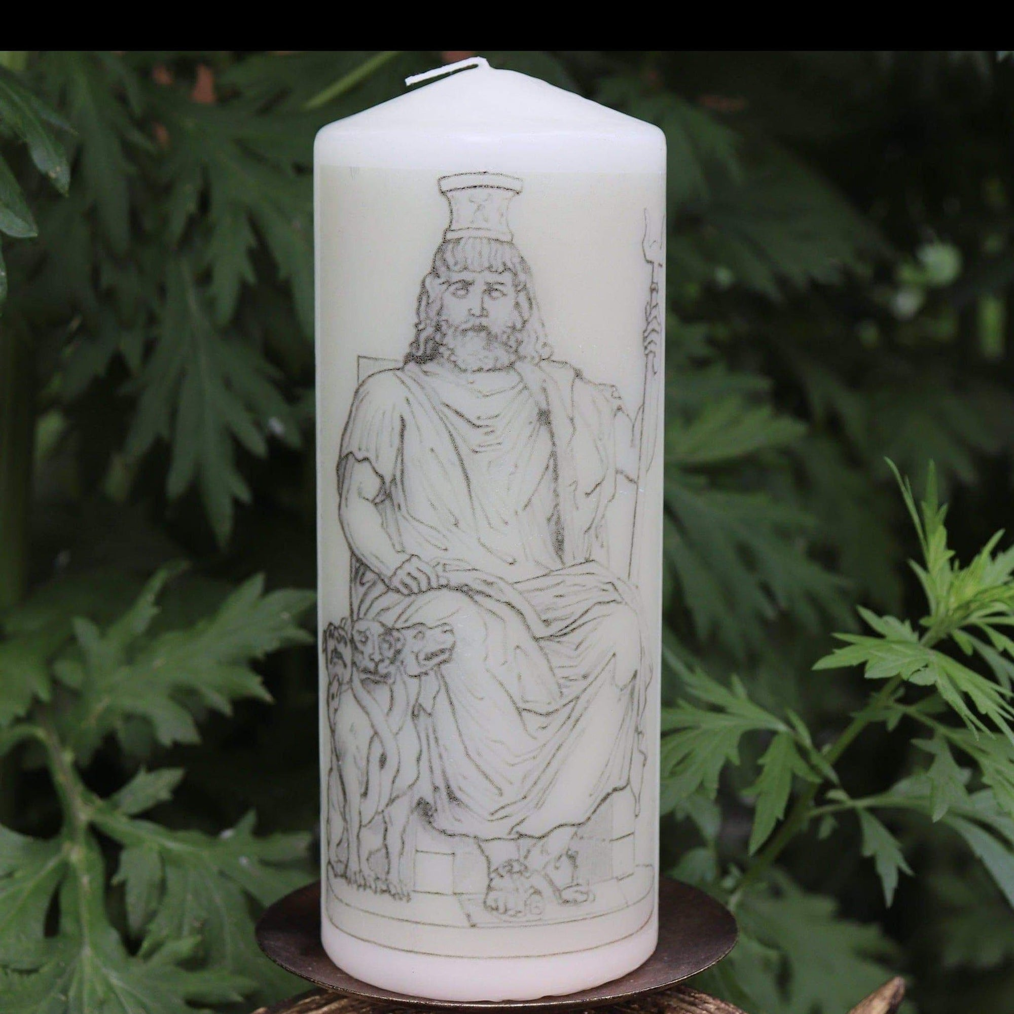 Ancient Greek God Hades Devotional Altar Candle