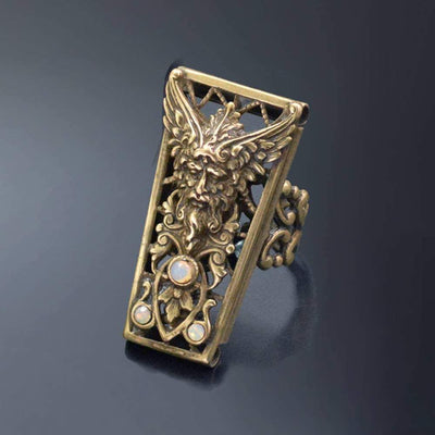 Ancient Greek God Zeus Destiny Vintage Amulet Ring