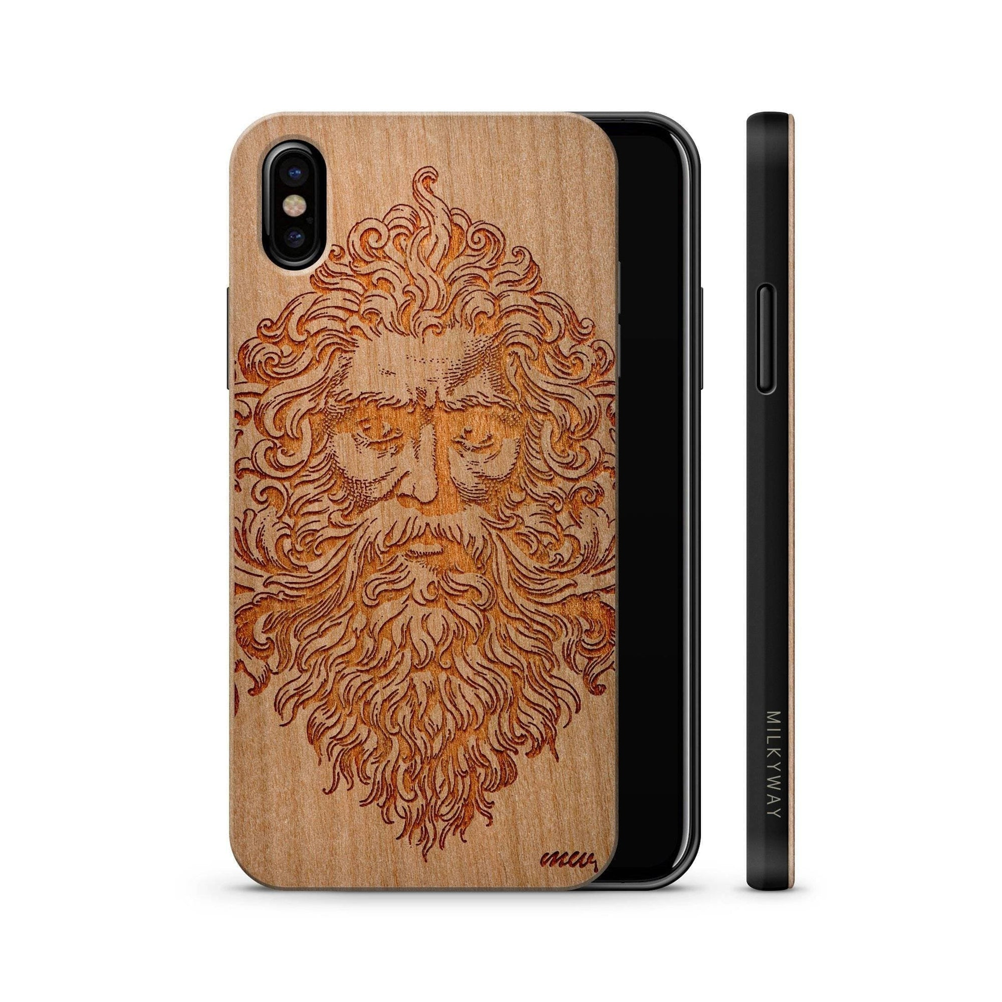 Ancient Greek God Zeus iPhone X Wood Case