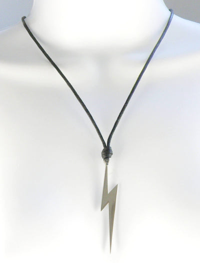 Ancient Greek Zeus Lightning Bolt Stainless Steel Necklace