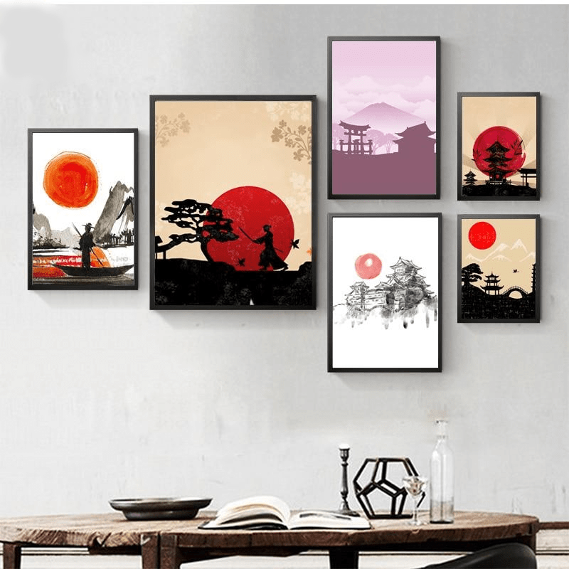 Ancient Japan 15x20cm No frame / 877 Ancient Japan Wall Art