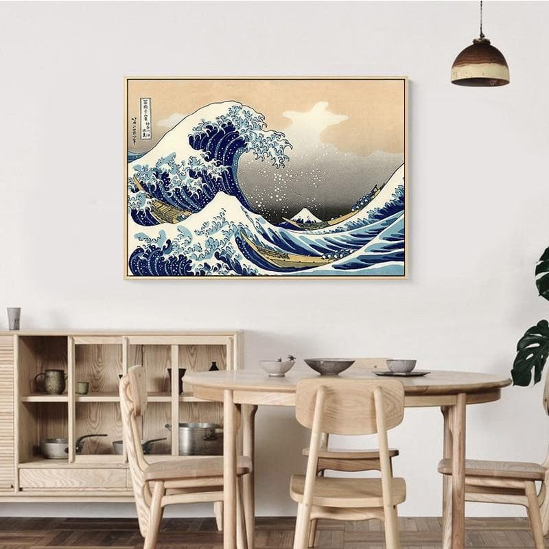 Ancient Japan 40x28cm(No frame) / No Frame Ancient Japan Kanagawa Wave Wall Poster