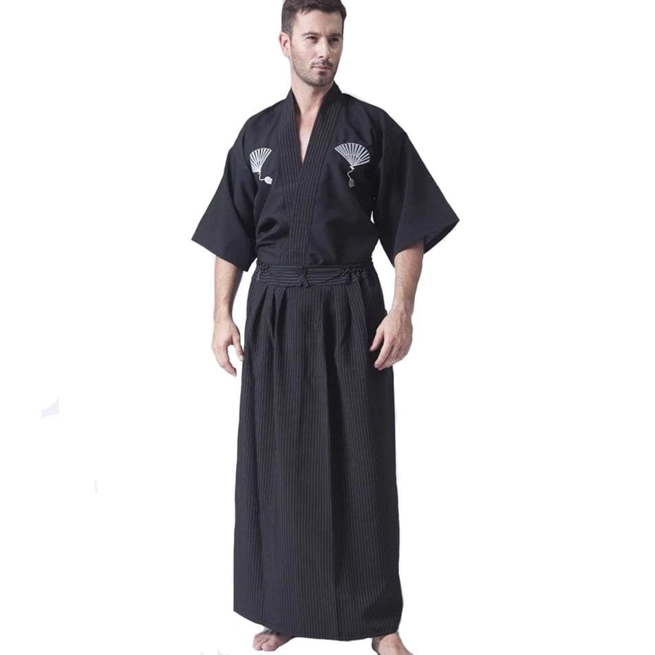 Ancient Japan Black Ancient Japan Samurai Black Classic Warrior Kimono