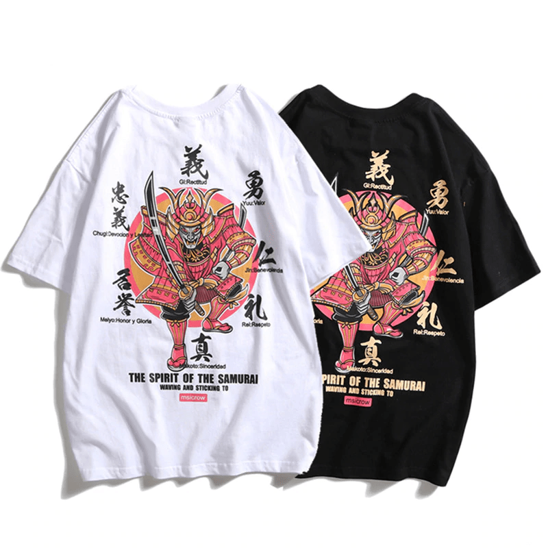 Ancient Japan Black / Asian M Ancient Japan Samurai Harajuku Hip Hop T-Shirt