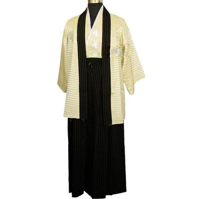 Ancient Japan Yellow / S Ancient Japanese Traditional Kimono