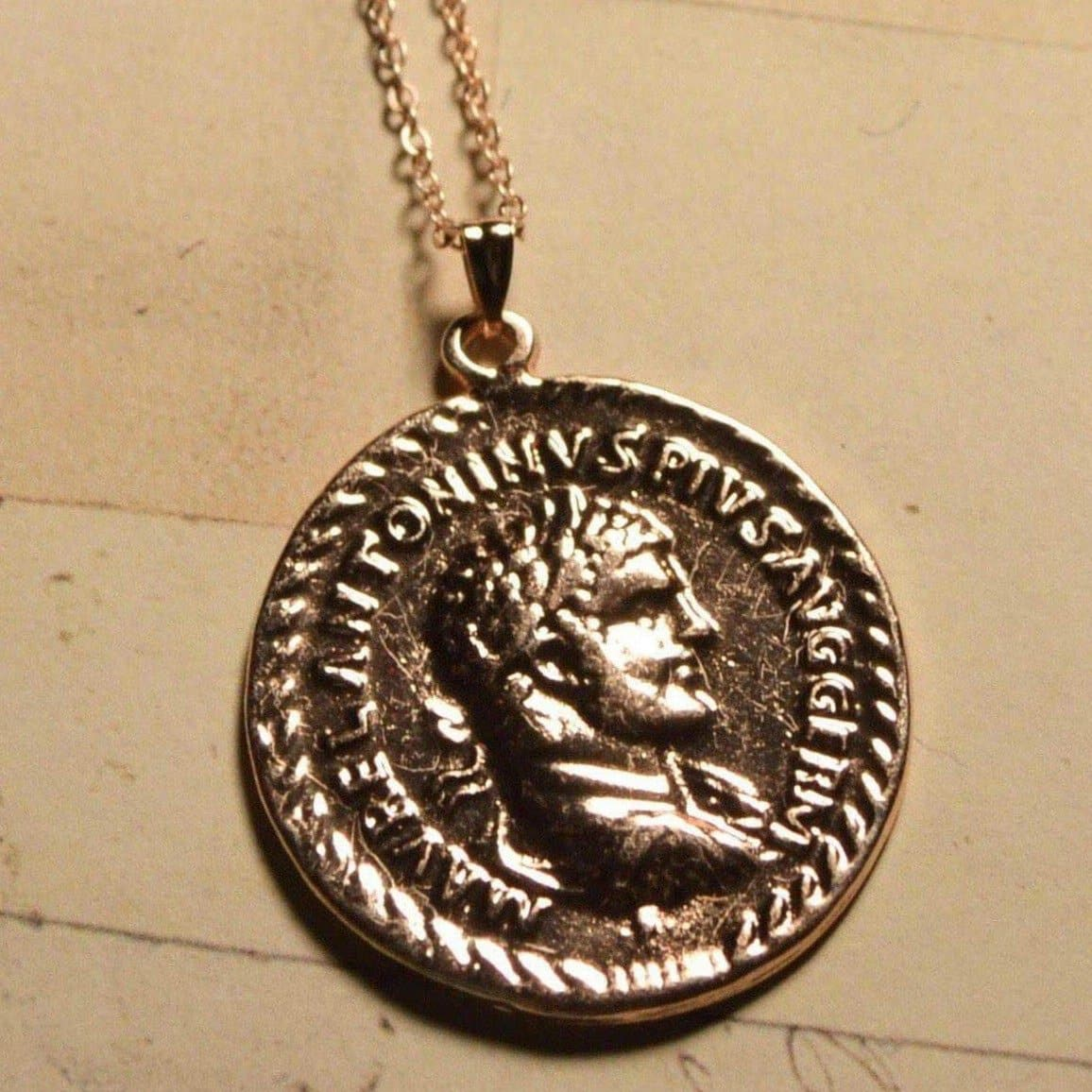 Ancient Roman Emperor Caracalla Coin Pendant and Necklace