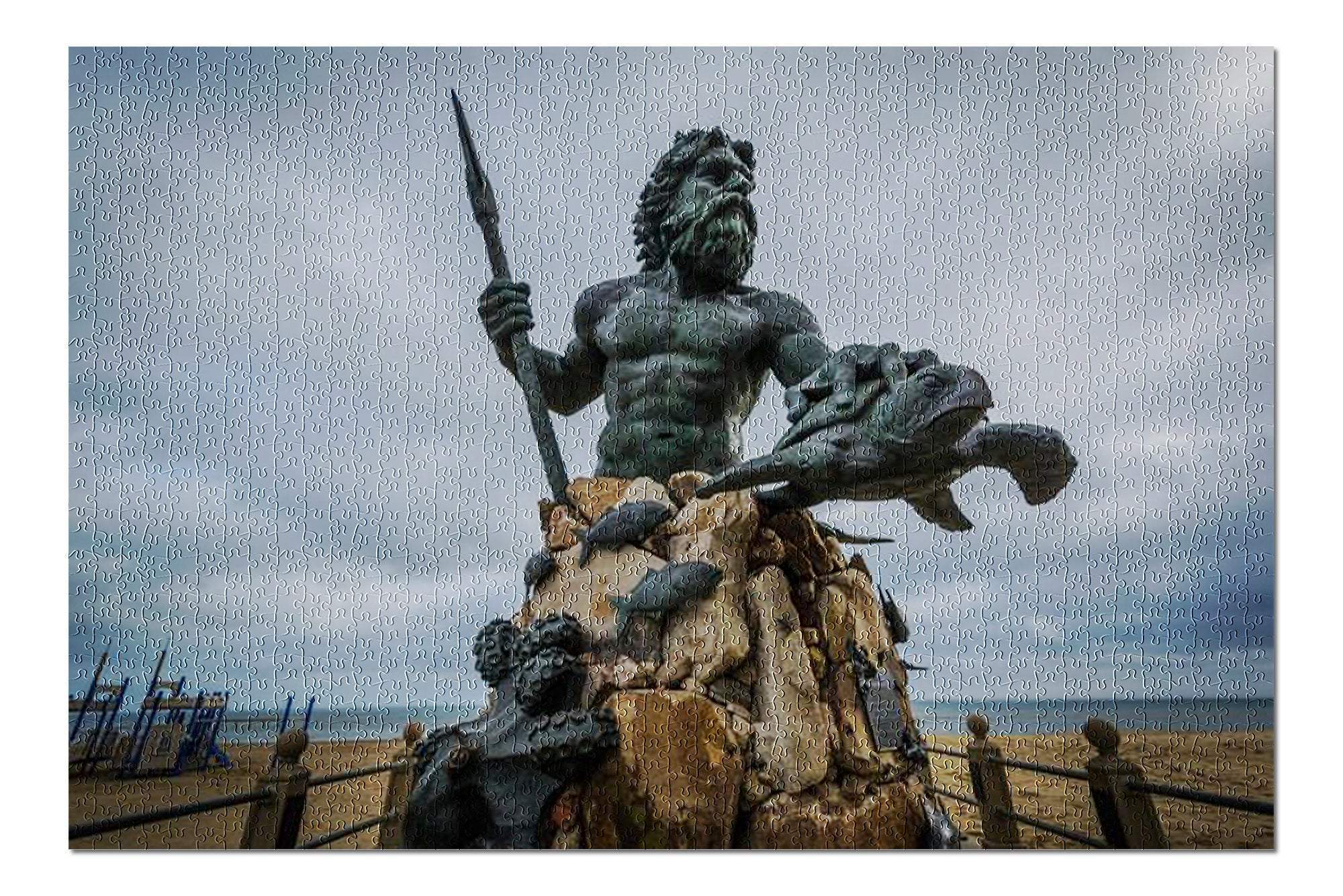 Ancient Roman God Neptune Statue 1000 Piece Jigsaw Puzzle Ancient Treasures Ancientreasures Viking Odin Thor Mjolnir Celtic Ancient Egypt Norse Norse Mythology