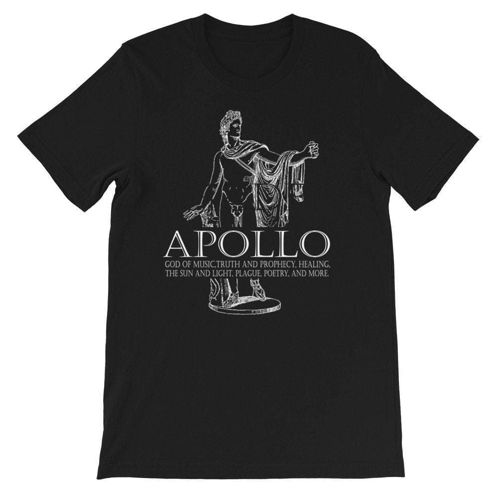 Ancient Roman God Of Music And Sun Apollo Unisex T-shirt Ancient Treasures Ancientreasures Viking Odin Thor Mjolnir Celtic Ancient Egypt Norse Norse Mythology