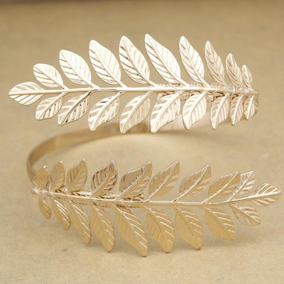 Ancient Roman Gold Plated Roman Laurel Leaf Upper Arm Cuff