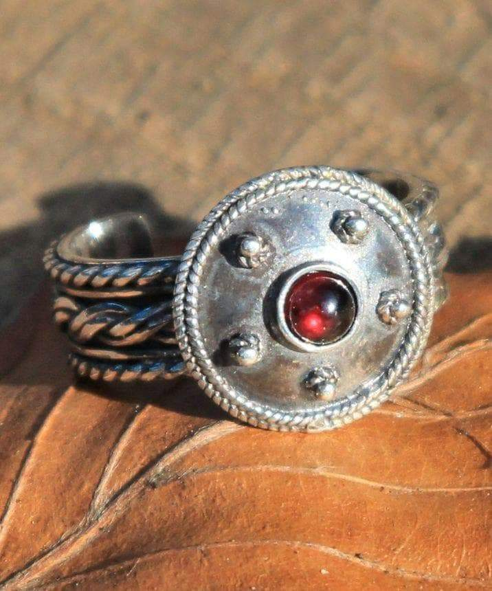 Ancient Rome Garnet and Sterling Silver Gladiator Ring Ancient Treasures Ancientreasures Viking Odin Thor Mjolnir Celtic Ancient Egypt Norse Norse Mythology