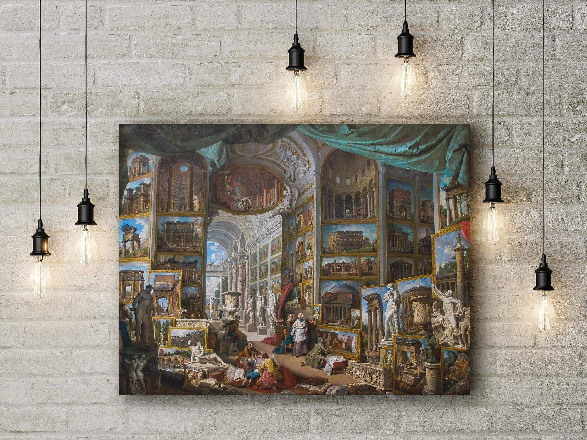 Ancient Rome Giovanni Paolo Panini Printed Canvas Art