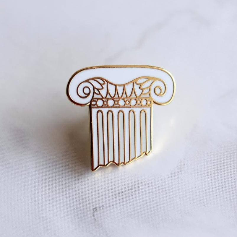 Ancient Rome Ionic Column Enamel Lapel Pin Ancient Treasures Ancientreasures Viking Odin Thor Mjolnir Celtic Ancient Egypt Norse Norse Mythology