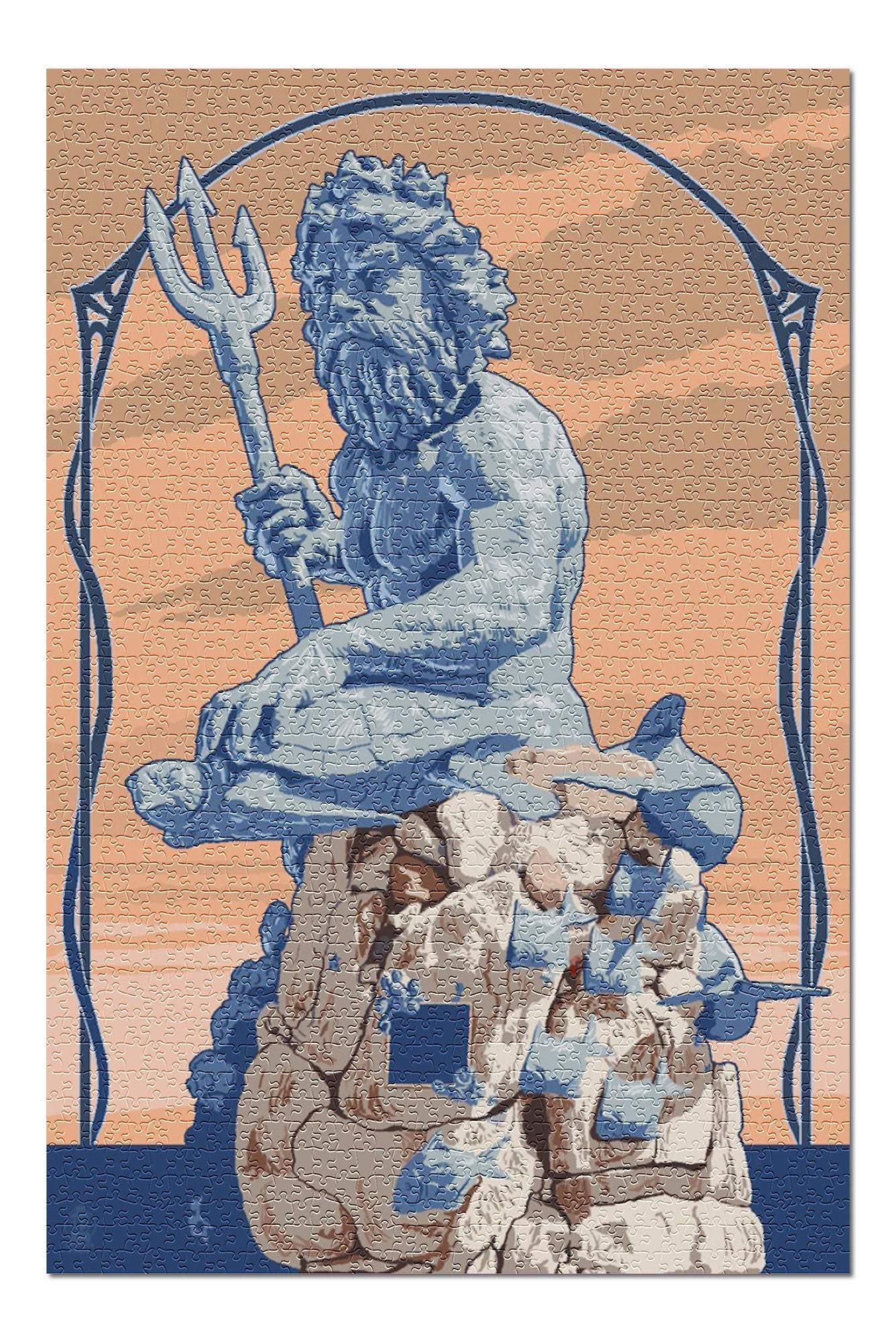 Ancient Rome King Neptune Statue 1000 Piece Jigsaw Puzzle Ancient Treasures Ancientreasures Viking Odin Thor Mjolnir Celtic Ancient Egypt Norse Norse Mythology