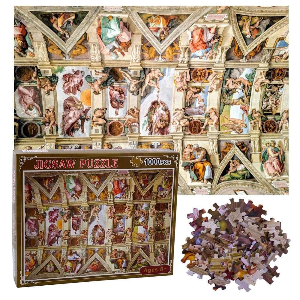 Ancient Rome Sistine Chapel Ceiling 1000 Pieces Jigsaw Puzzle Ancient Treasures Ancientreasures Viking Odin Thor Mjolnir Celtic Ancient Egypt Norse Norse Mythology