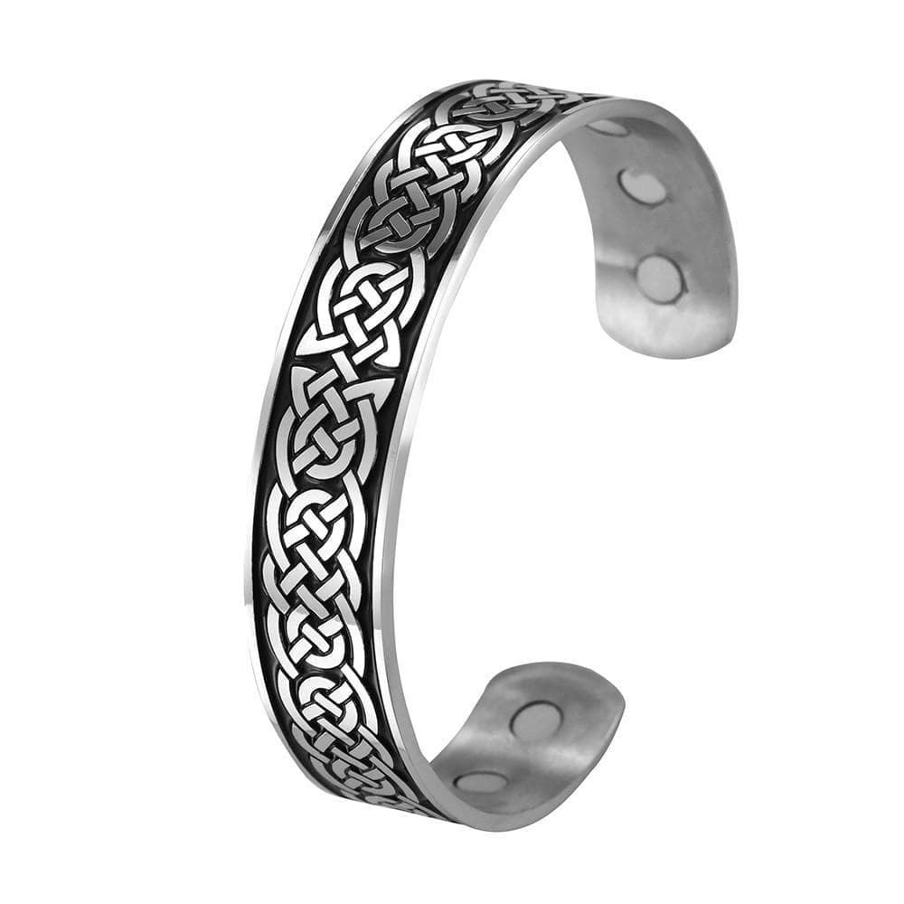 Bangles Skyrim Vintage Magnetic Bracelets Cuff Bangle Luck Irish Knot Celtics Knots Viking Stainless Steel Bangles Jewelry for Women Men|Bangles| Ancient Treasures Ancientreasures Viking Odin Thor Mjolnir Celtic Ancient Egypt Norse Norse Mythology