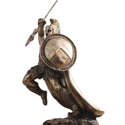 Battle Axe Ancient Roman Warrior Sculpture