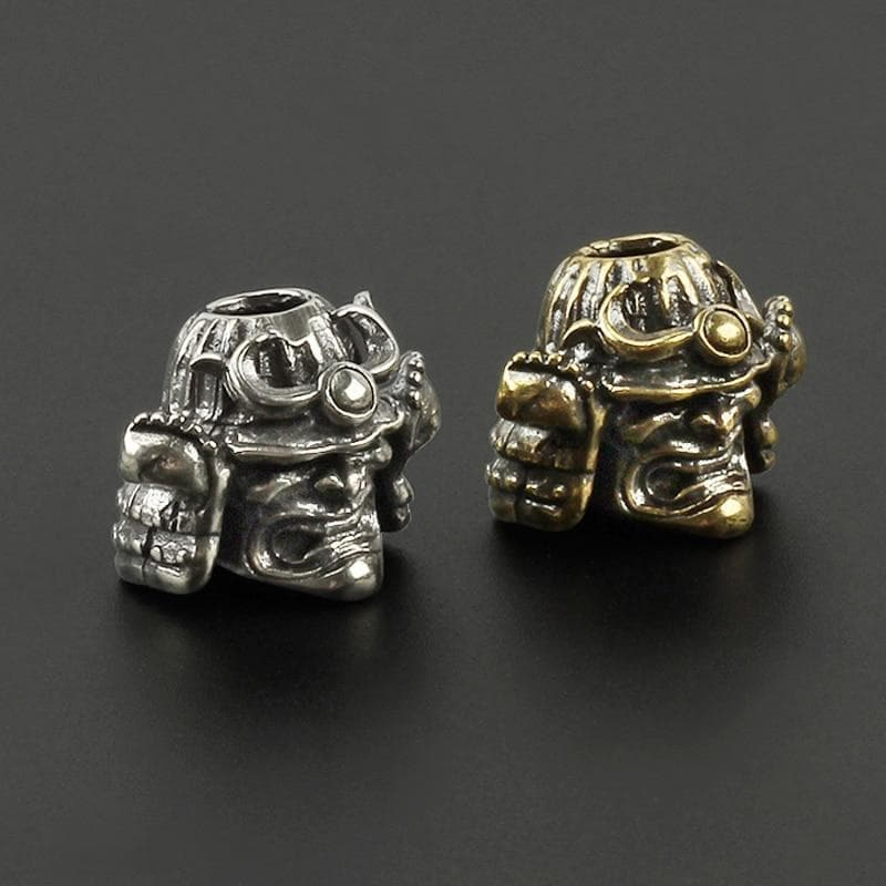 Beads Feudal Japan Samurai Skull Helmet Brass Knife Bead Ancient Treasures Ancientreasures Viking Odin Thor Mjolnir Celtic Ancient Egypt Norse Norse Mythology