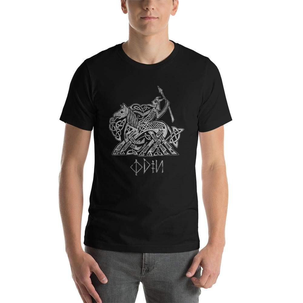 Black / XS Odin by Celtic Hammer Club Unisex T-Shirt Ancient Treasures Ancientreasures Viking Odin Thor Mjolnir Celtic Ancient Egypt Norse Norse Mythology