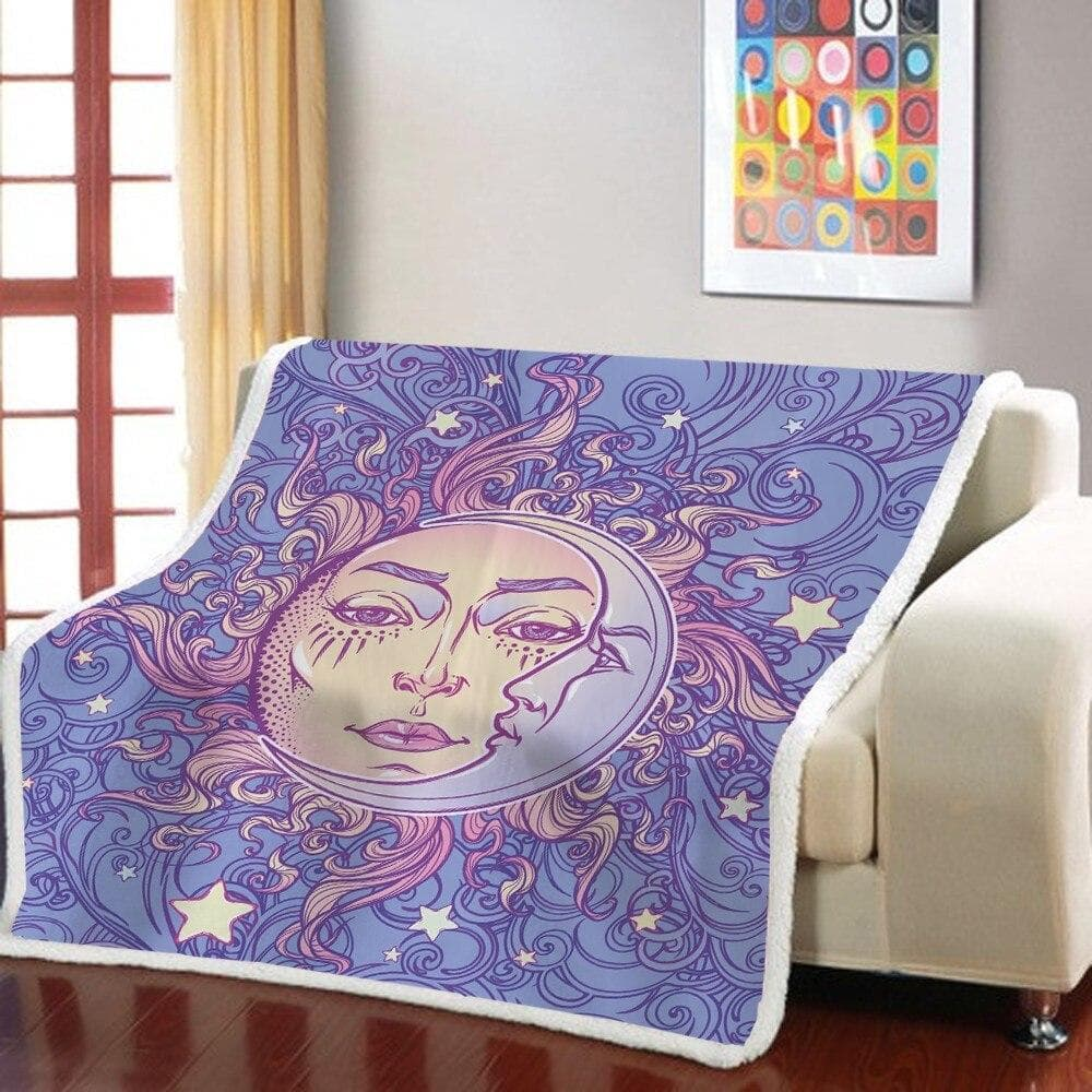Blankets 3D Print Psychedelic Bohemian Sherpa Blanket Sun Goddess Throw Blanket Mandala Human Face Fleece Blanket Home Weighted Blanket|Blankets| Ancient Treasures Ancientreasures Viking Odin Thor Mjolnir Celtic Ancient Egypt Norse Norse Mythology