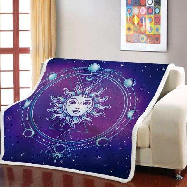 Blankets AS PICTURE / 130x150cm 3D Print Sun Goddess Sherpa Blanket Psychedelic Bohemian Throw Blanket Mandala Fleece Blanket For Bedroom Weighted Blanket|Blankets| Ancient Treasures Ancientreasures Viking Odin Thor Mjolnir Celtic Ancient Egypt Norse Norse Mythology