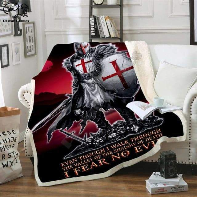 "Blankets Style 1 / 28""x39"" Knights Templar Blanket 3D printed Sherpa Blanket on Bed Home Textiles Dreamlike HOME ACCESSORIES style 1
