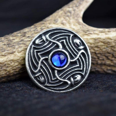Blue Viking Lofort Solid Pewter Disc Brooch Ancient Treasures Ancientreasures Viking Odin Thor Mjolnir Celtic Ancient Egypt Norse Norse Mythology