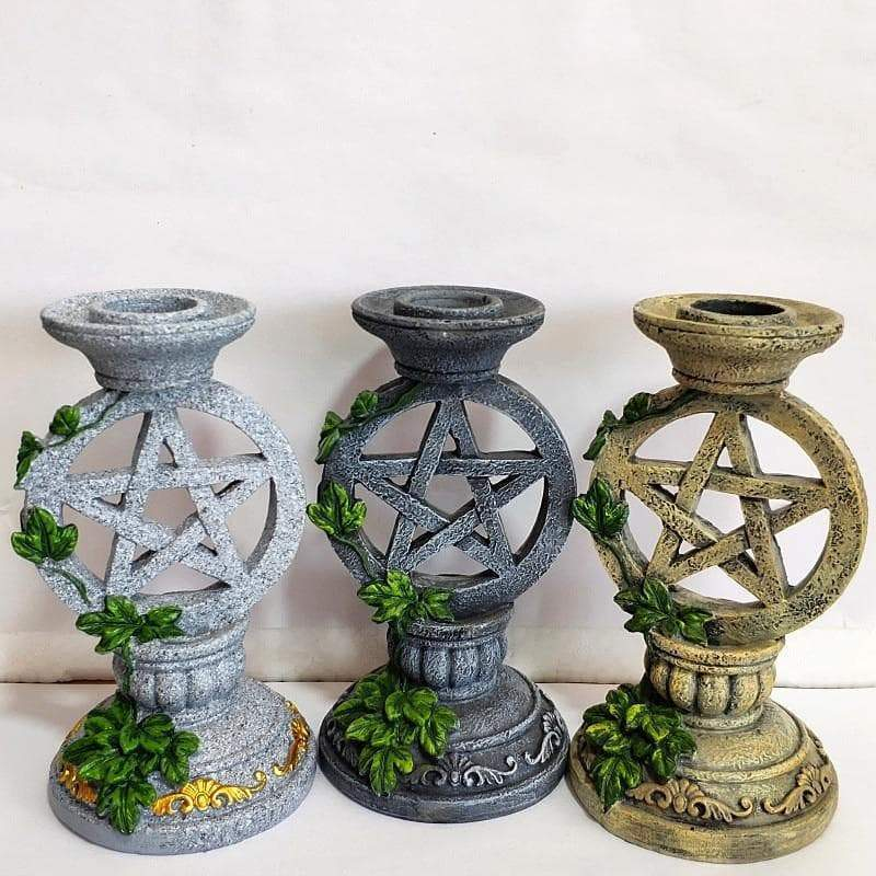 Board Games Altar Candlestick Ceremony Candle Holder set Witchcraft Props Table Decoration Goddesses Kore Pentagram Candelabrum Religion|Board Games| Ancient Treasures Ancientreasures Viking Odin Thor Mjolnir Celtic Ancient Egypt Norse Norse Mythology