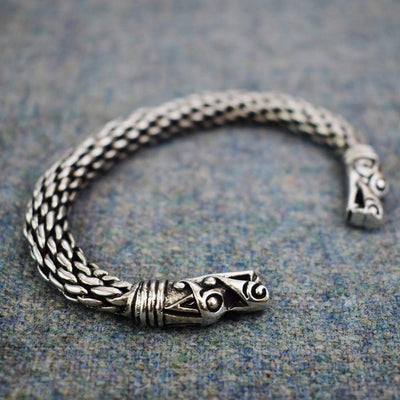 Viking Mystical Norse Dragon Head Chunky Bracelet
