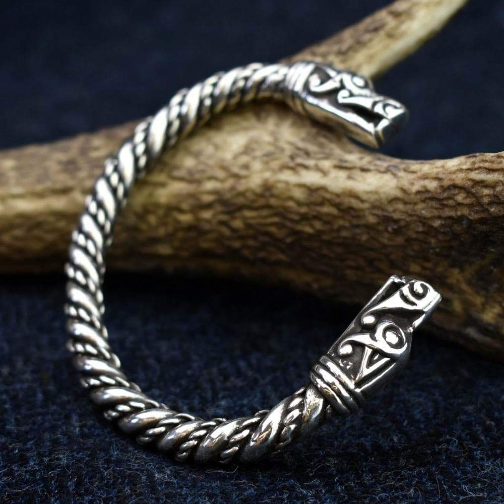 Viking Mystical Norse Tapered Band Dragon Bracelet