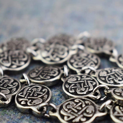 Bracelets Viking Norse Modern Disc Knotwork Bracelet Pewter Ancient Treasures Ancientreasures Viking Odin Thor Mjolnir Celtic Ancient Egypt Norse Norse Mythology