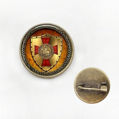 brooch 20mm 1pcs The Knights Templar pendant jewelry Glass Cabochon Necklace HZ1