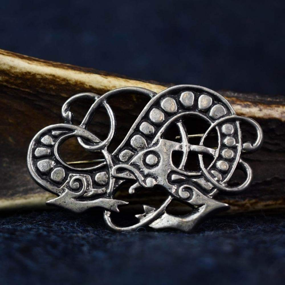 Brooch Viking Luck of Lochland Jelling Style Pewter Brooch Ancient Treasures Ancientreasures Viking Odin Thor Mjolnir Celtic Ancient Egypt Norse Norse Mythology