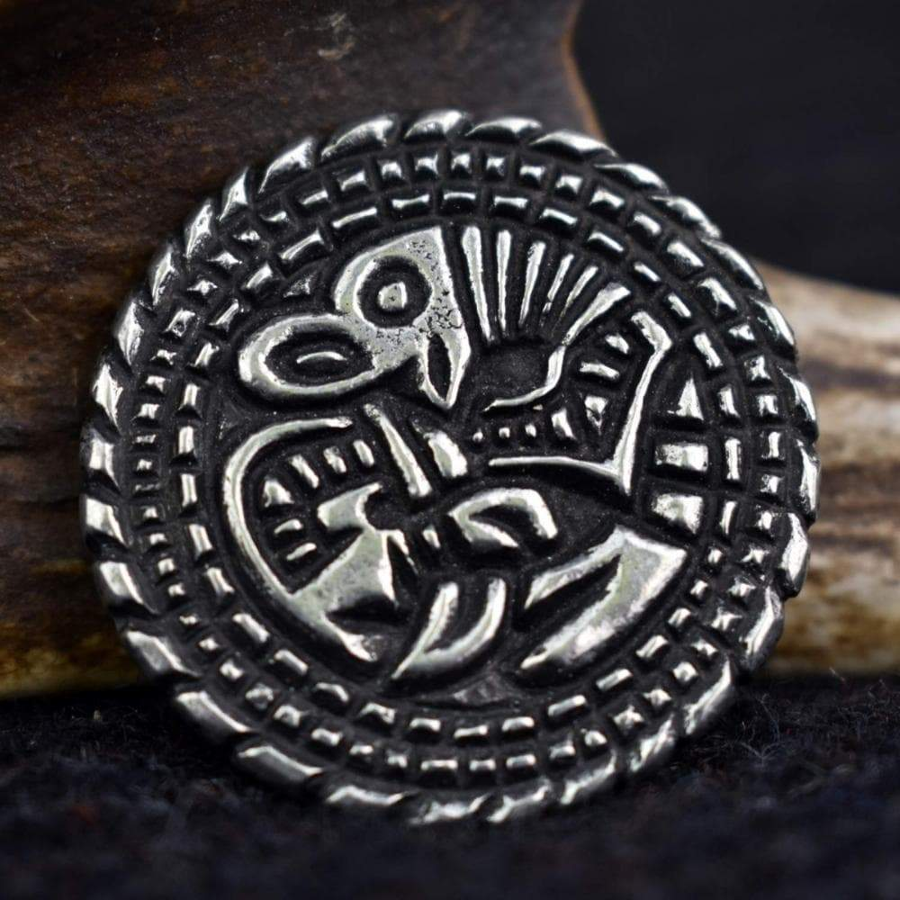 Brooch Viking Mammen Style Beast Small York Disc Pewter Brooch Ancient Treasures Ancientreasures Viking Odin Thor Mjolnir Celtic Ancient Egypt Norse Norse Mythology