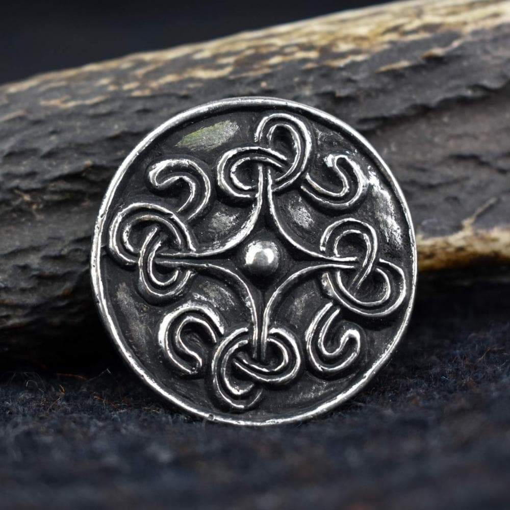 Viking Norse Borre Knot Pewter Disc Brooch Ancient Treasures